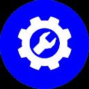 Иконка изготовление цвет синий