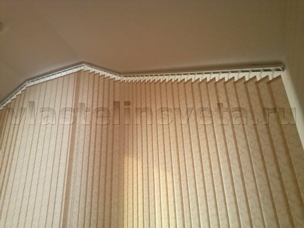 Жалюзи вертикальные наклонные жаккард персиковый